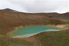 Viti crater in the Krafla caldera: lakes