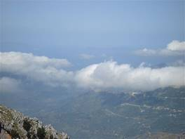 Rocca del Crasto, in the Nebrodi Mounts: Eolian Islands